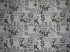 Letters Upholstery/Drapery Jacquard Fabric Script Sepia By The Yard