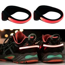 2pk LED Ankle Clip Safety Light Reflective Running Cycling Walking Strap Band