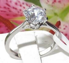 025 2.3CT SOLITAIRE WOMENS SIMULATED DIAMOND RING ENGAGEMENT STAINLESS STEEL