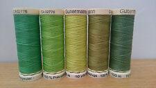Gutermann Sew-all thread 100m set of 5 - S10 - Greens (1)