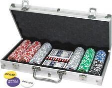 Pokerkoffer 300 Laser-Chips 11,5g Pokerset Poker Set Laser Pokerchips Jetons