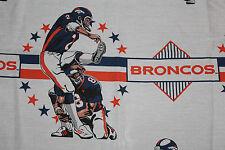 Vintage DENVER BRONCOS Chris Simms Twi Size FLAT SHEET ** 90's RARE L@@K