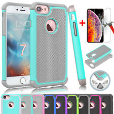 For iPhone XR,XS Max,6,6S,7,8 Plus,SE 2016,5,5S Case Cover with Screen Protector