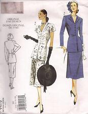 Patron Vogue Vintage 1072 - CHEMISIER ET JUPE - d'après dessin 1948 - T.12 à 18