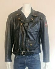 Redskins Riders 100% Heavy Weight Leather D Pocket Perfecto Style Biker Jacket
