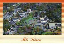Mt. Kisco New York, Main Street South Moger Ave, Library, Train Station Postcard