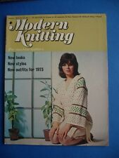 MODERN KNITTING JANUARY 1973 VINTAGE PATTERN INSTRUCTION CRAFT BOOK MAGAZINE