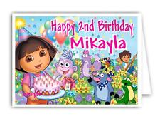 Personalised Birthday Card - with Dora the Explorer Print -  Any name and Age