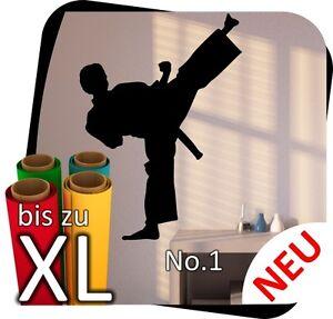 Karate Wandtattoo Kinderzimmer KungFu Wunschname Aufkleber No.1