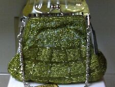 Bijoux Terner Olive Green Beaded Clutch/Purse New with Tags