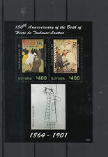 Guyana 2014 Mnh Henri de Toulouse-Lautrec 150th Anniv Birth 2v S/S Moulin Rouge