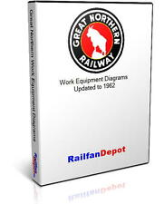 Great Northern Work Equipment Diagrams - PDF on CD - RailfanDepot
