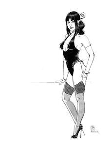 Sexy Mitsou fantasy pin up original  art  by Paradis