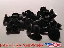 (20) M5 M5-0.8 M5x10 10 10mm Black Oxide Hex Socket Cap Flat Head Machine Screws
