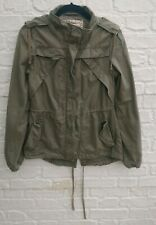 Ladies Fat Face Khaki Green Parka Jacket Size UK 10 Hooded Lightweight Coat