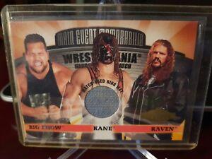 2001 Fleer WWF Main Event Memoralbilia Wrestlemania Hardcore Big Show Kane Raven