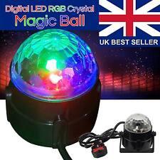 Disco DJ Stage Light Club Party Crystal Ball Effect RGB Rotating LED Lighting...