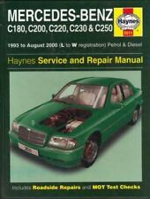 MERCEDES BENZ C CLASS,C180,C200,C220,C230,C250 HAYNES WORKSHOP MANUAL 1993-2000