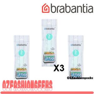 Brabantia PerfectFit Bags Comppstable Bin Liners 6L 10pk X 3 Rolls 06477 PI