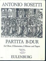 Anton Rosetti ~ PARTITA B Dur für Oboe, 2 Klarinetten, 2 Corni, 1 Fagott