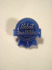 �� Vintage Pabst Blue Ribbon Beer Pin Pbr Plastic Tie Hat Shirt Sign Bar Ad ��