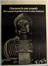 Devadip Carlos Santana 1979 Poster Ad Oneness