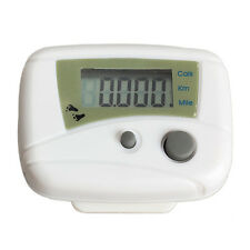 LCD Run Step Pedometer Walking Distance Calorie Counter Passometer White