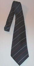 Christopher Hayes Neck Tie Striped Blue White Red 100% Silk Made in Italy VGC