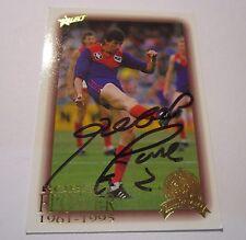 Melbourne - Robert Flower signed AFL Hall of Fame Card + Photo Proof & COA