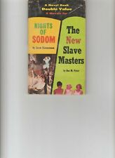 NIGHTS OF SODOM / The New Slave Masters Novel double value 1965 vpb sleaze pulp!