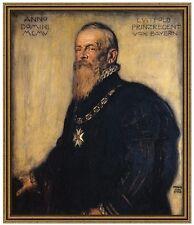 Franz di stucco 10 principe Regent Luitpold di Baviera tela 72x85 secessione