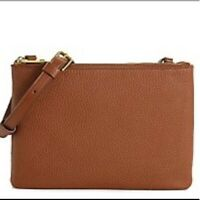 Fossil Sadie leather crossbody bag in cognac