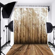 Wooden Wall Floor Photography Backdrop Background Photo Studio Vinyl Props 3x5FT