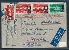 75583) Schweiz Brief ab Zürich 22.9.37 Nacht-LP Basel - Frankfurt n.Iserlohn
