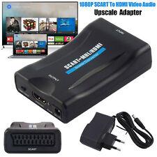1080P Scart a HDMI Convertidor Adaptador Para DVD HD TV con UE Enchufe Converter