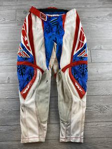 Fly Racing Men's Motocross Pants White/Red/Blue Sz. 30