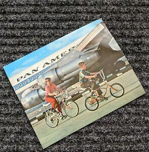 SCHWINN BICYCLE DEALER POST CARD 1967 STING-RAY BIKES - RAMS HORN & MIDGET