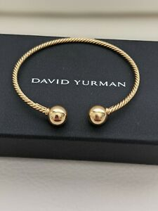 David yurman Solari 18K Yellow Gold Cable Cuff Bracelet M