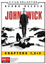 John Wick 3 Film Collection Chapters 1 2 3 BRAND NEW Region 4 DVD