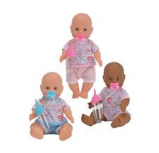New Born Baby Vollvinyl Puppe Babypuppe Trink- und Nässfunktion mit Zubehör