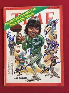 "1972, Joe Namath (Plus 5), ""Autographed"" (JSA) ""TIME"" Magazine (RARE!!)"