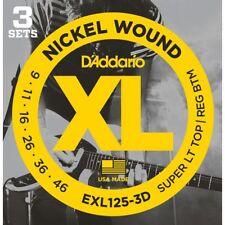 D'Addario EXL125-3D 3 Pack - Sup Light Top/Reg Bottom 9-46