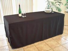 1x Tischhusse 60x100x71cm bodenlang für z.B.Tapeziertisch -Tisch Schwarz