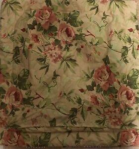 Euro Pillow Sham Case Gold Burgundy Green Floral Striped Decorative Size 26 x 26