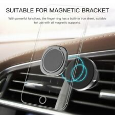 360° Rotating Mobile Phone Magnetic Holder Car Mount Finger Ring Desk Bracket