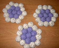 Crochet Bottle Cap Hot Pad Handmade Set of 3 NEW