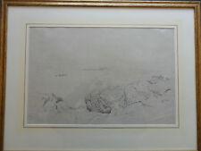 Edward Duncan Rws 1803-1882 Original Firmado Dibujo catedrales Castillo fechada 1862