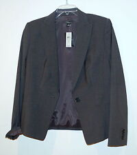 NEW Ann Taylor Womens Jacket Blazer Tropical Wool size 10 $228 heather gray