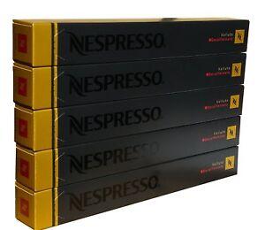 50 ORIGINAL NESPRESSO COFFEE CAPSULES PODS - VOLLUTO DECAFFEINATO (Intensity:4)