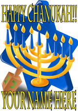Happy Chanukah cptmi91 Card A5 Personalised Greetings